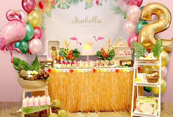 Hawaiian Flamingo Birthday Celebration
