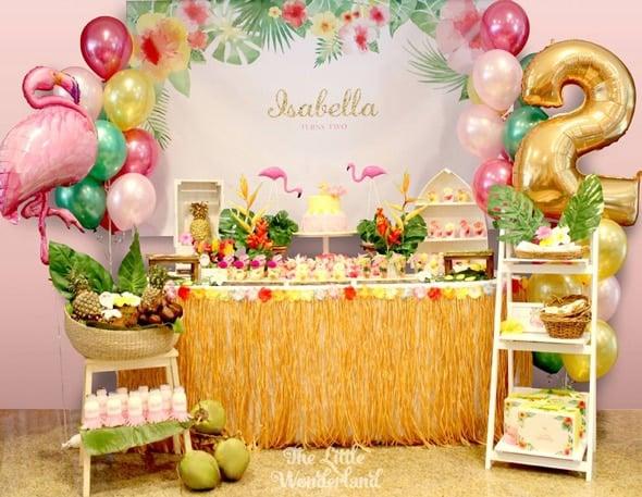 Hawaiian Flamingo Birthday Celebration - Pretty My Party