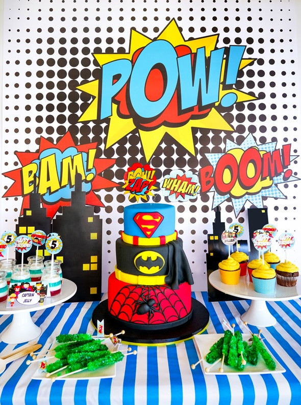 Pow Erful Superhero Birthday Party