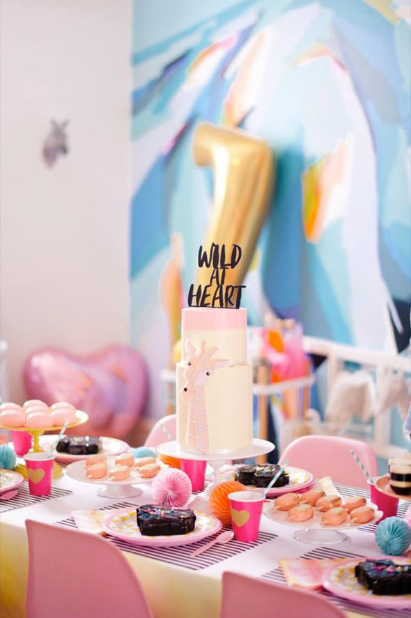 Wild at Heart Birthday Party   Pretty My Party