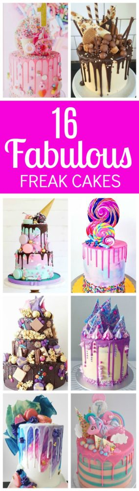 16 Fabulous Freak Cakes   Pretty My Party
