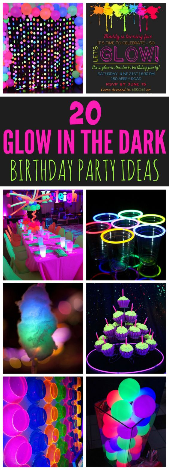 20 Epic Glow In The Dark Party Ideas - Pretty My Party