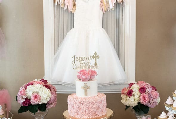 Elegant Pink First Communion Celebration