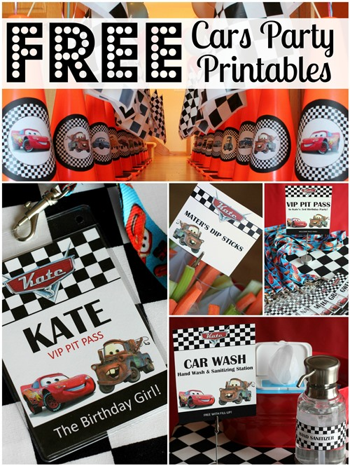 Free Disney Cars Party Printables | Pretty My Party