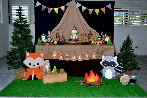 Woodland Camping Dessert Table | Pretty My Party