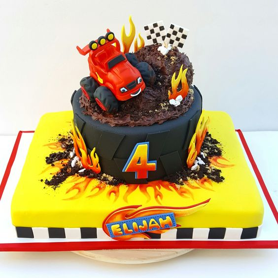 Blaze and the Monster Machines Party Cake