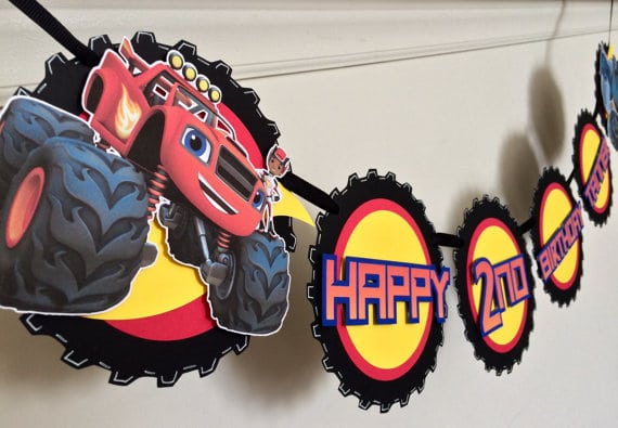 Blaze and the Monster Machines Party Banner