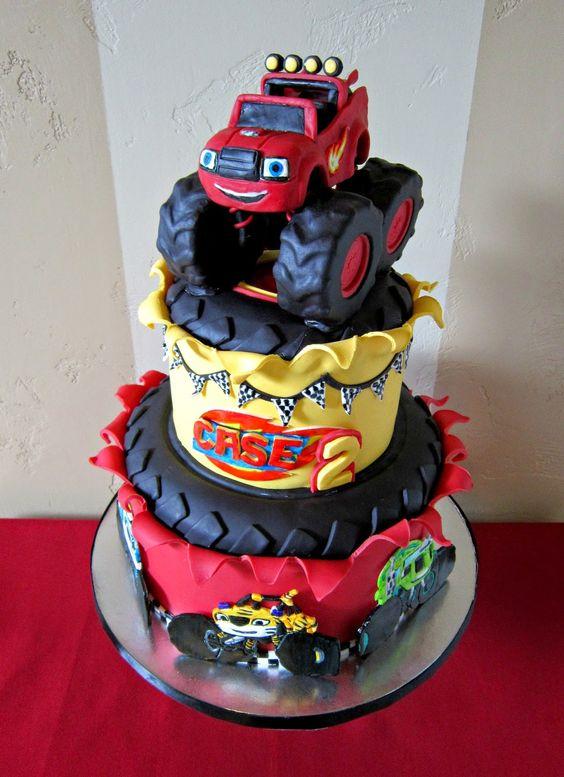 Blaze Three Tier Birthday Cake | Blaze and the Monster Machines Party Ideas