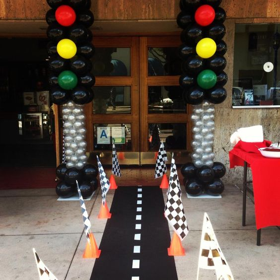 21 blaze and the monster machines party ideas pretty my for Balloon decoration cars theme