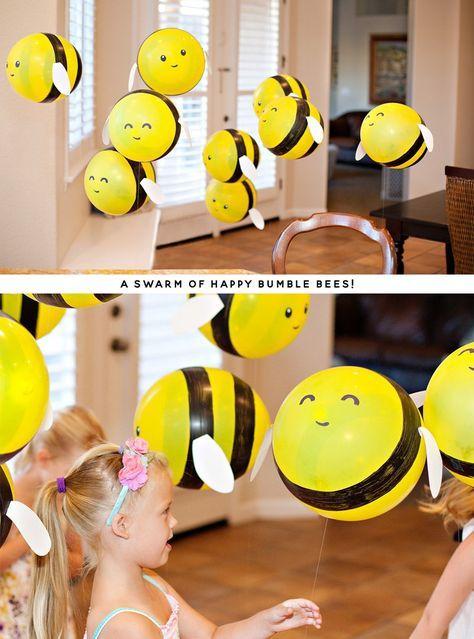 DIY Bumble Bee Balloons | DIY Balloon Ideas | Pretty My Party