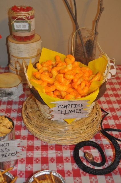 "Campfire ""Flames"" Cheese Curls 