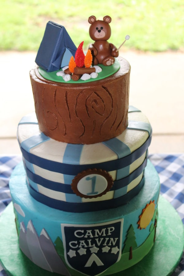 Adorable Camping Party Cake | Pretty My Party