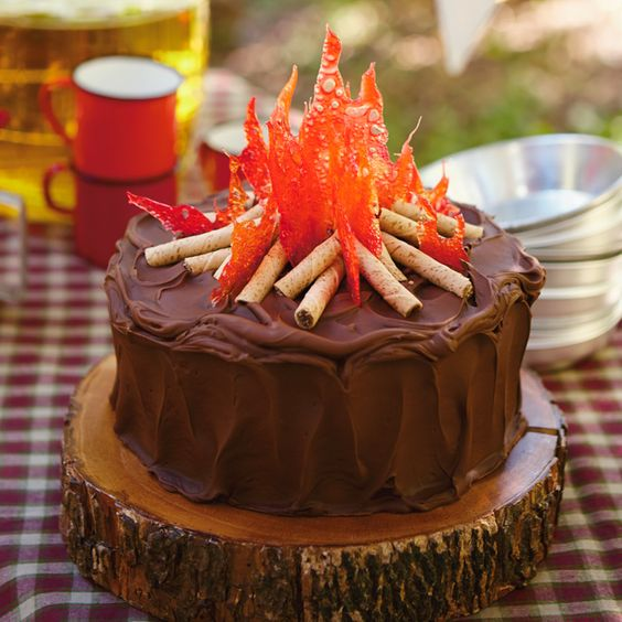 Camping Birthday Cake | Pretty My Party