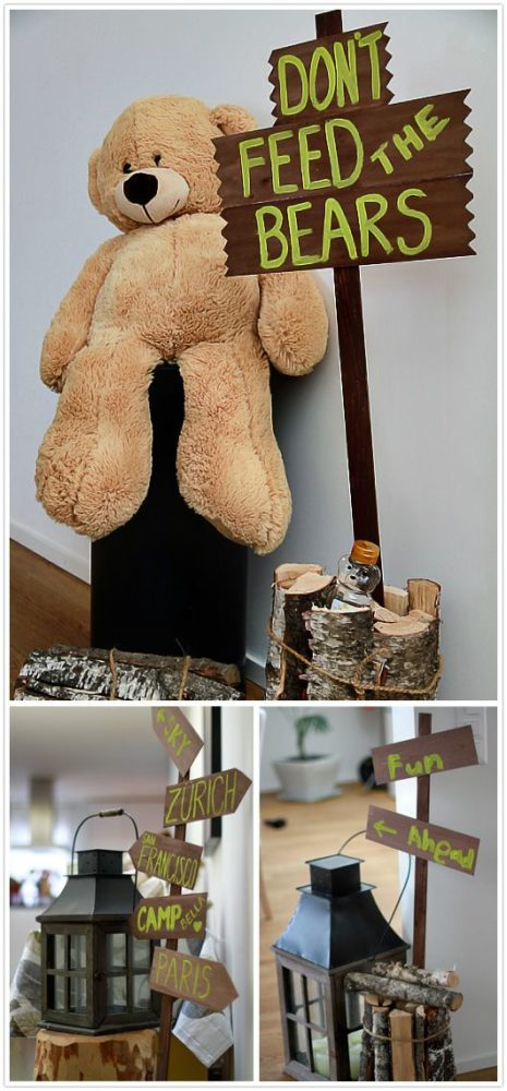 Don't Feed the Bears Sign | Camping Party Ideas | Pretty My Party
