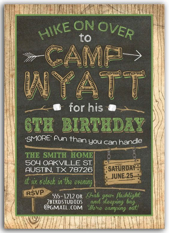 Camping Party Invitation | Pretty My Party
