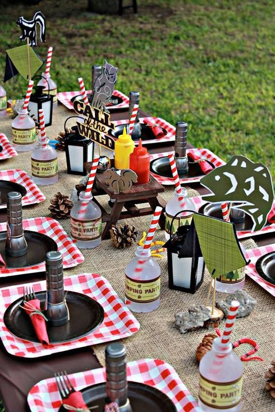 Camping Party Table Idea | Pretty My Party