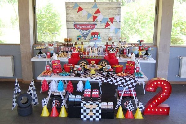 Disney Cars Party Dessert Table Idea | Pretty My Party