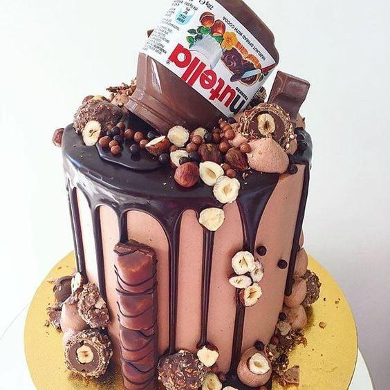 Crazy Chocolate Nutella Drip Cake   Freak Cake Trend   Pretty My Party
