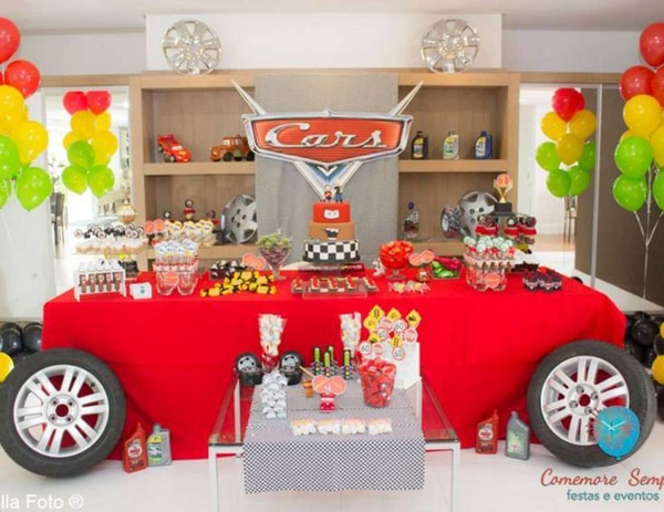 Disney Cars Party Dessert Table Idea | Cars Party Ideas | Pretty My Party