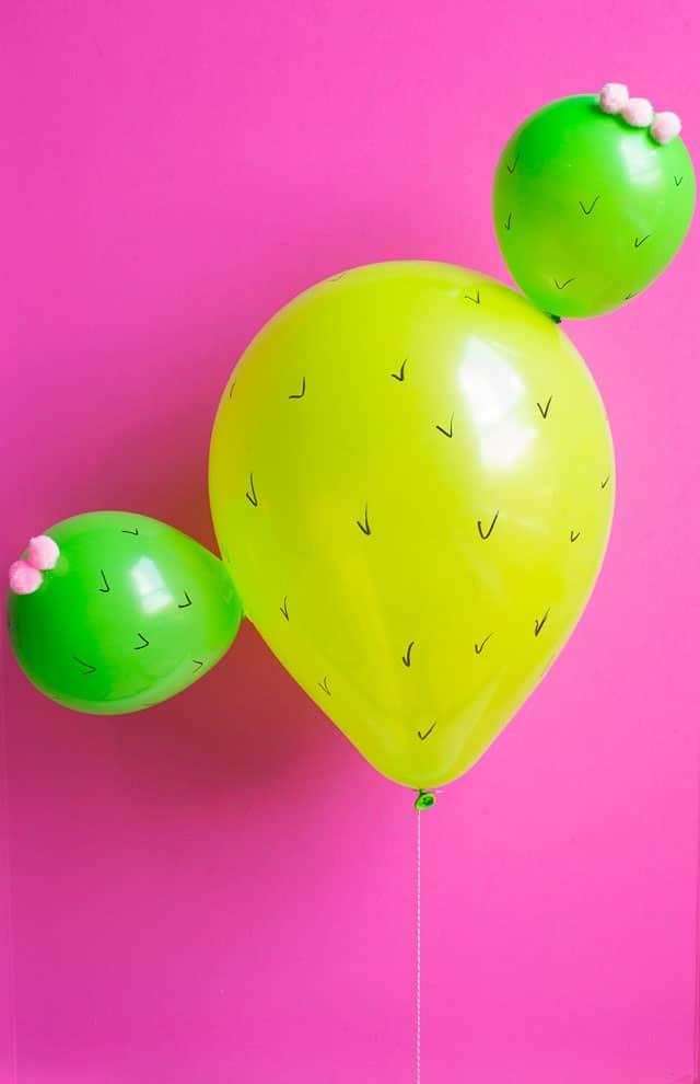 DIY Cactus Balloons | DIY Balloon Ideas | Pretty My Party