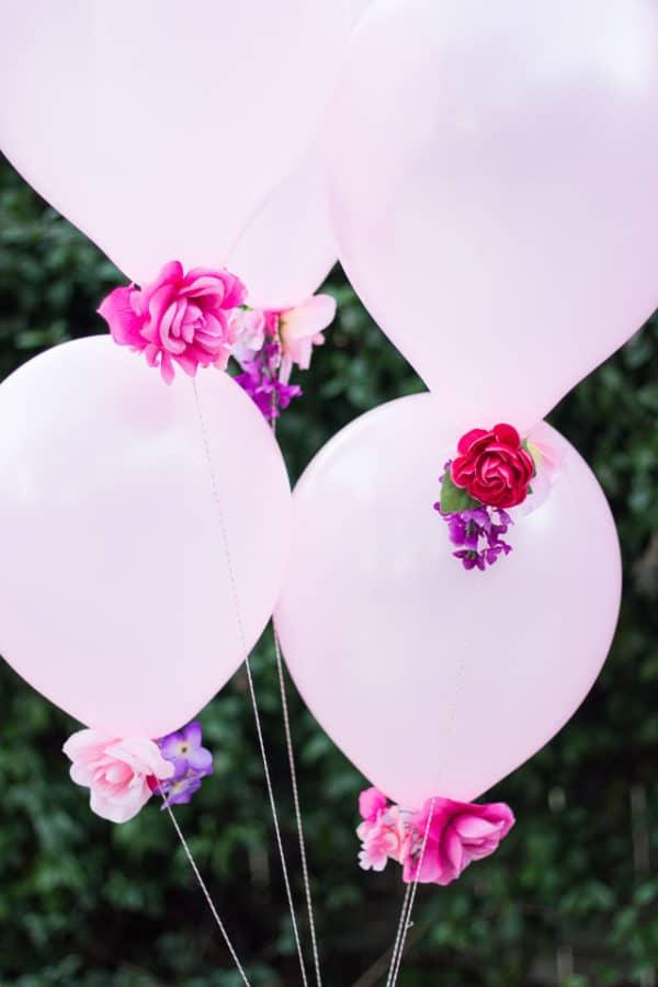 DIY Flower Balloons | DIY Balloon Party Ideas | Pretty My Party