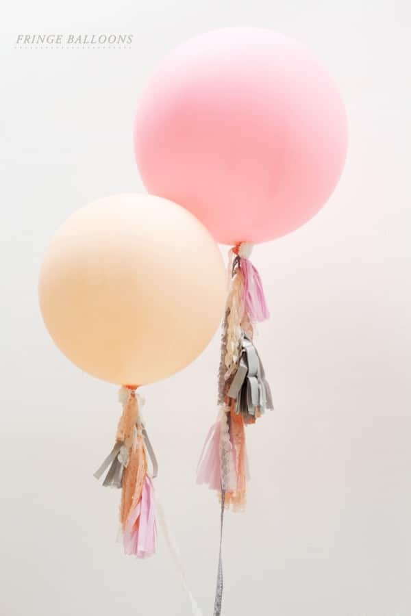 DIY Fringe Balloons | Pretty My Party