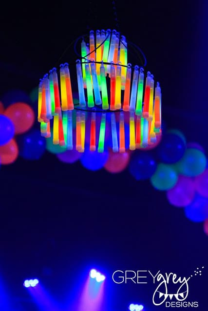 DIY Glow Stick Chandelier | Pretty My Party