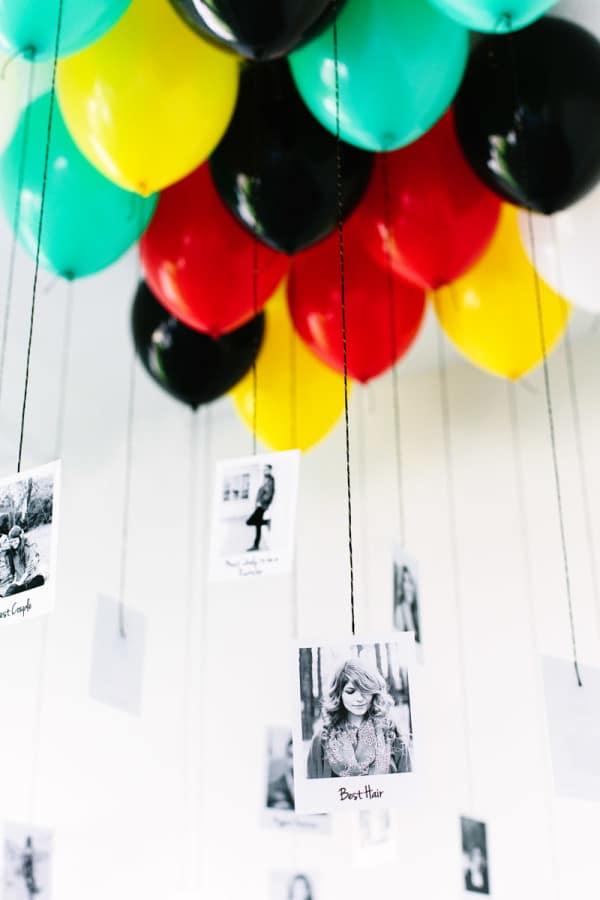 DIY Graduation Photo Balloons