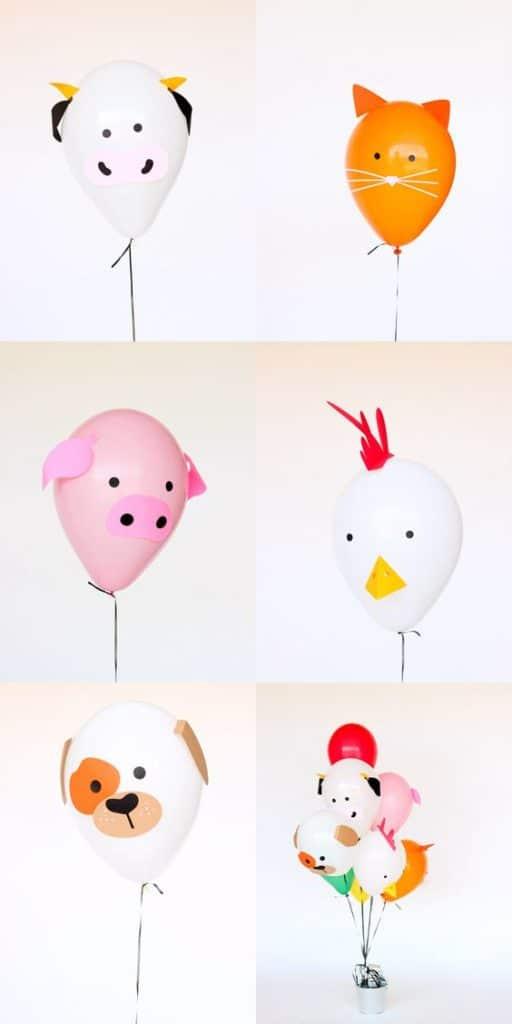 DIY Paper Balloon Farm Animals | DIY Balloon Ideas | Pretty My Party