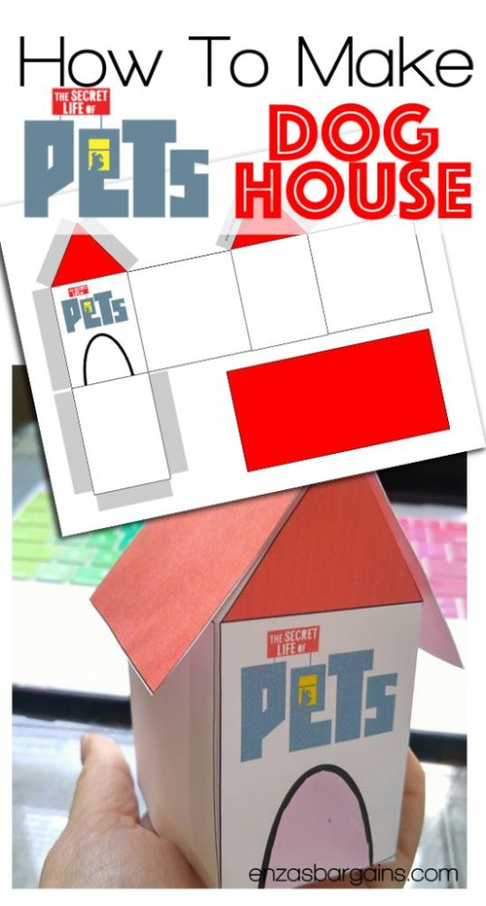 Free Dog House Printable | Secret Life of Pets Party Ideas