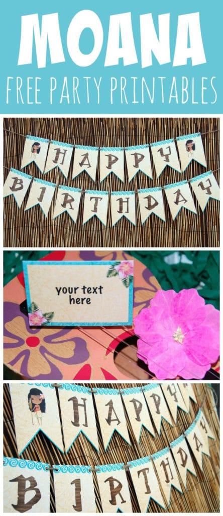 Free Disney Moana Party Printables - Pretty My Party