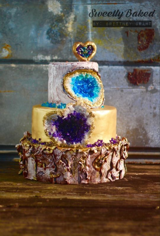 Rock Solid Love Cake | Geode Cake Ideas