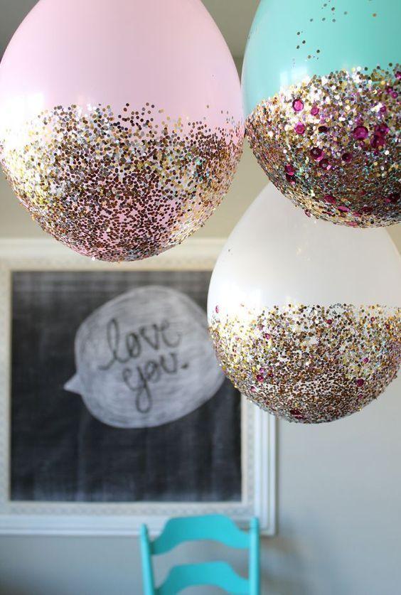 Glitter Dipped Balloons | DIY Balloon Idea | Pretty My Party