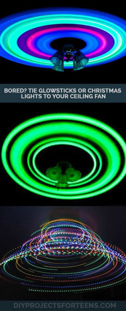 Glow in the Dark Ceiling Fan Idea | Pretty My Party