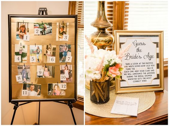 Guess the bride's age game | Bridal Shower game ideas | Pretty My Party