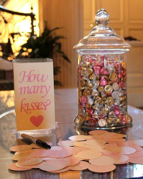 How Many Kisses Game | Bridal Shower Game Ideas | Pretty My Party