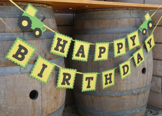 John Deere Party Banner | Pretty My Party