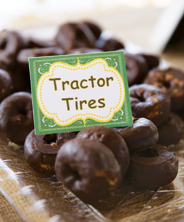 Donut Tractor Tires - John Deere Party Ideas | Pretty My Party