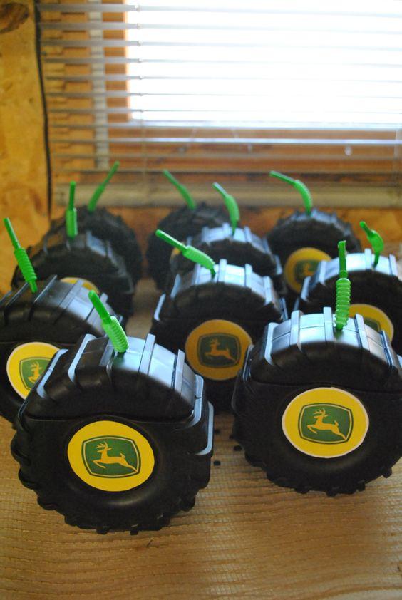 John Deere Party Tire Drinks | Pretty My Party