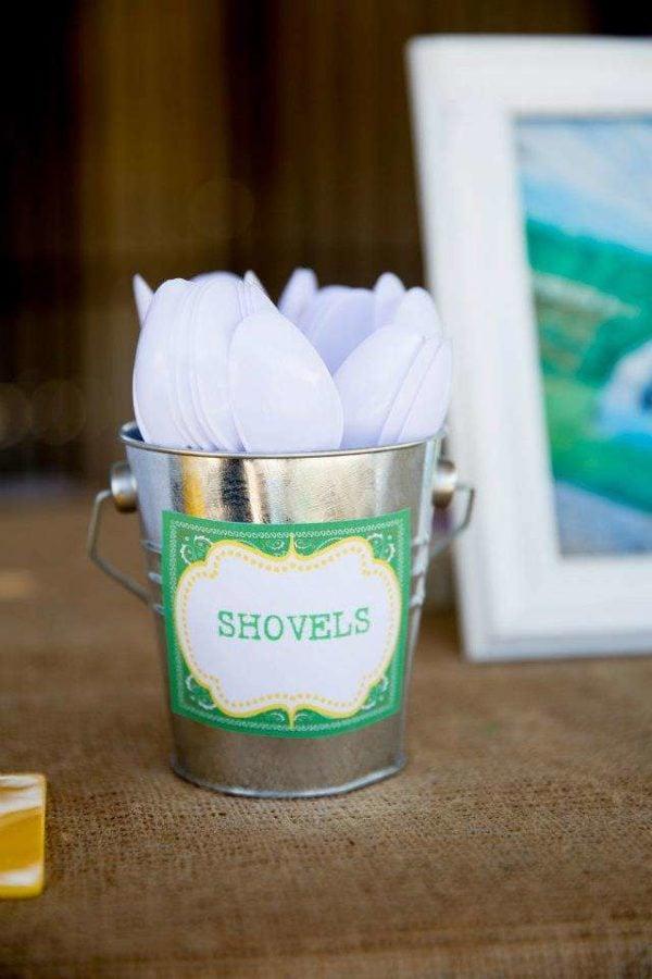 John Deere Party Ideas Spoon Shovels | Pretty My Party