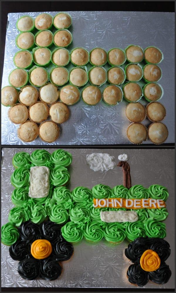 John Deere Tractor Cupcake Cake | Pretty My Party