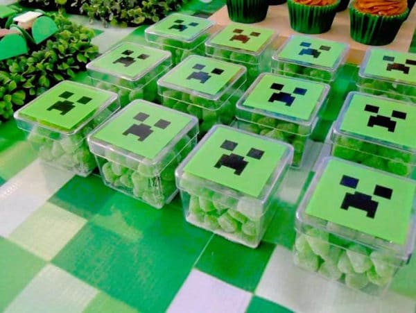 Minecraft Creeper Gumdrop Party Favors
