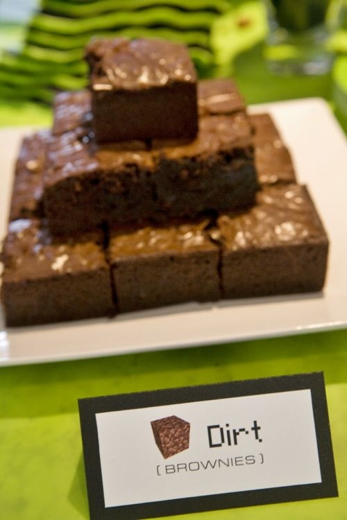 Minecraft Dirt Brownies