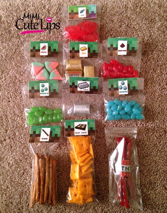 Minecraft Party Favor Ideas