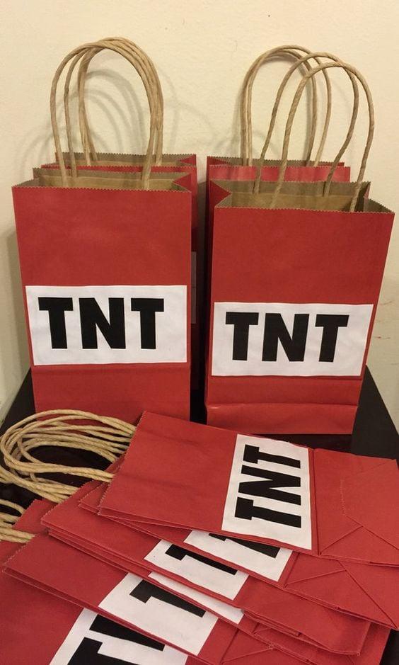 TNT Favor Bags