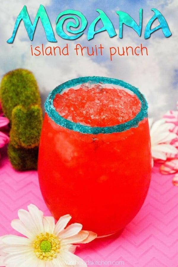 Moana Island Fruit Punch Recipe | Moana Party Ideas | Pretty My Party