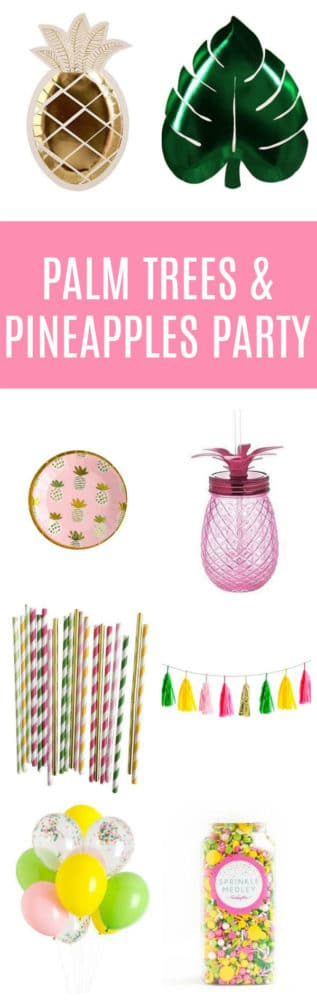 Pineapple Palm Tree Party Supplies | Pretty My Party