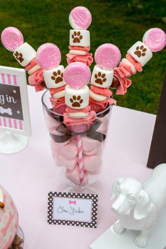 Puppy Chew Sticks | Girls Paw Patrol Party Ideas | Pretty My Party
