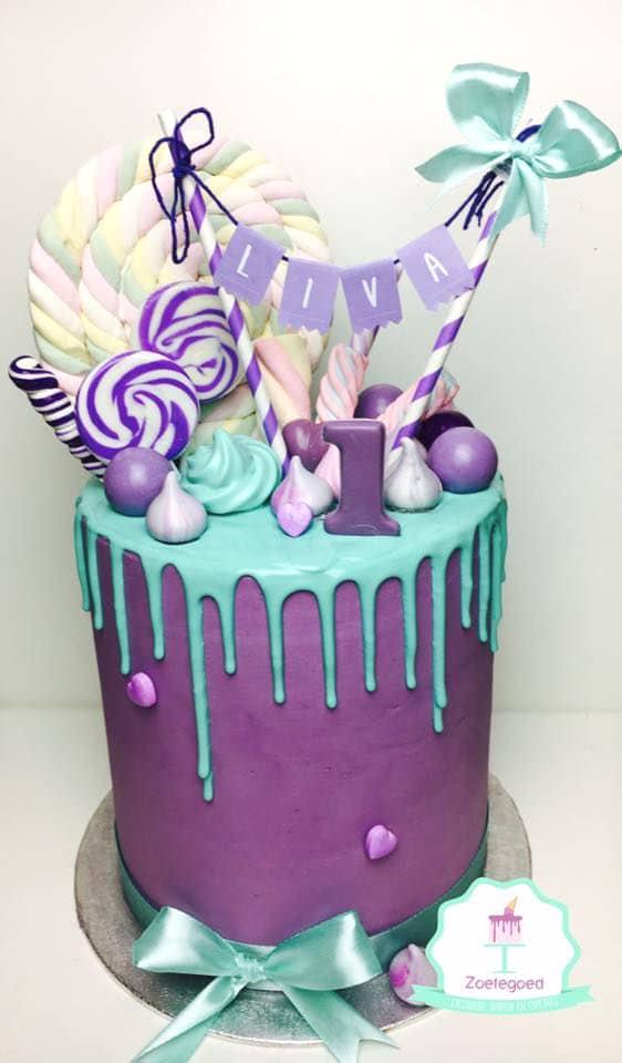 Purple Drip Cake   Freak Cake Trend   Pretty My Party
