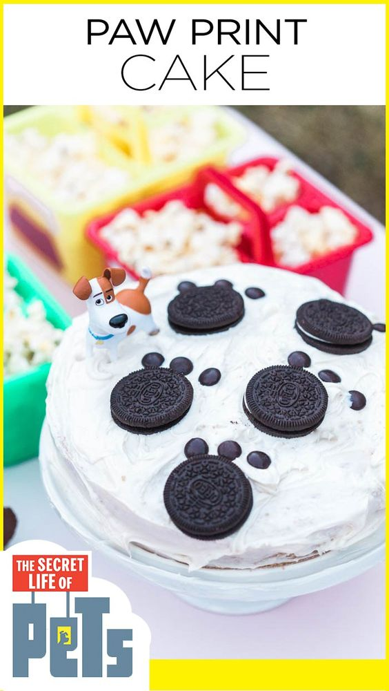 Secret Life of Pets Paw Print Cake